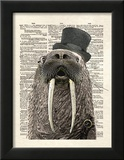 Walrus Poster by Matt Dinniman