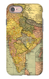 India - Panoramic Map iPhone 7 Case by  Lantern Press