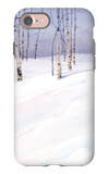 Winter Landscape with Birch Trees iPhone 7 Case