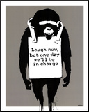 In Charge Monkey Mounted Print