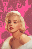 True Blue Marilyn in Pink Art by Chris Consani