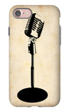 Vintage Microphone iPhone 7 Case by  NaxArt