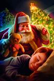 Santa Teddy Bear Prints by JJ Brando