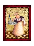 Chef 4 Wine Prints by Viv Eisner