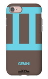 Gemini Zodiac Sign Blue iPhone 7 Case by  NaxArt
