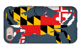 Maryland - Crab Flag - No Text iPhone 7 Case by  Lantern Press