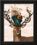 Mad Hatter Deer Poster by  Fab Funky