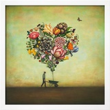 Big Heart Botany Prints by Duy Huynh