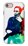 Lenny Watercolor iPhone 7 Case by Lora Feldman