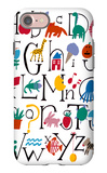 Cute Alphabet with Illustrations iPhone 7 Case