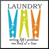 Laundry Sorting Mounted Print by Taylor Greene
