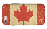 Canadian Aged Flat Flag iPhone 7 Case by  nazlisart