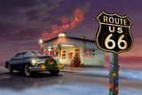 Christmas Route 66 Plakater af Chris Consani