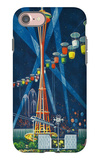 Space Needle Worlds Fair Poster - Seattle, WA iPhone 7 Case by  Lantern Press