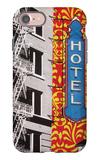 Urban Collage Hotel iPhone 7 Case by Deanna Fainelli
