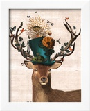 Mad Hatter Deer Prints by  Fab Funky
