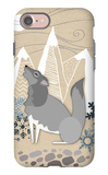 Winter Wolf Howling iPhone 7 Case by  Lantern Press