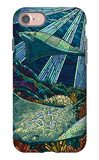 Rays - Paper Mosaic iPhone 7 Case by  Lantern Press
