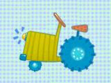 Blue Tractor Giclée-Premiumdruck von Viv Eisner