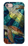 Sea Turtle - Paper Mosaic iPhone 7 Case by  Lantern Press