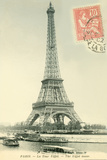 Eiffel Tower Stamped Prints by Alan Paul