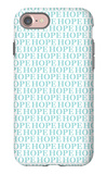 Aqua Hope iPhone 7 Case by  Avalisa