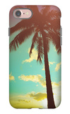Retro Styled Hawaiian Palm Tree iPhone 7 Case by Mr Doomits