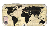 Vintage World Map iPhone 7 Case by Devon Ross