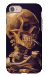 Skull with a Burning Cigarette iPhone 7 Case by Vincent van Gogh