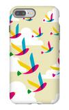 Transparent Birds Pattern iPhone 7 Plus Case by  cienpies