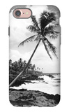 Hawaii - Palms along the Beach iPhone 7 Case by  Lantern Press