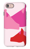 Pink Horses iPhone 7 Case by  Avalisa