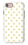 Yellow Polk-a-dots iPhone 7 Case by  Avalisa