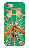 Green Ferris Wheel iPhone 7 Case by Gail Peck