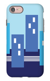Blue Buildings iPhone 7 Case by  Avalisa