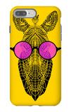Zebra in Pink Glasses iPhone 7 Plus Case by Lisa Kroll