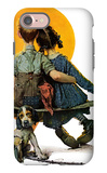 """Little Spooners"" or ""Sunset"", April 24,1926 iPhone 7 Case by Norman Rockwell"