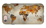 Grunge Map Of The World iPhone 7 Case by  javarman