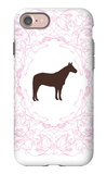 Pink Stallion iPhone 7 Case by  Avalisa