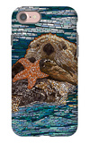 Sea Otter - Paper Mosaic iPhone 7 Case by  Lantern Press