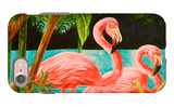 Hot Tropical Flamingo II iPhone 7 Case by Linda Baliko