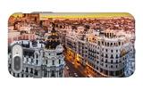 Panoramic View Of Gran Via, Madrid, Spain iPhone 7 Plus Case by  kasto