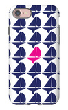 Navy Pink Regatta iPhone 7 Case by  Avalisa