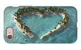 Aerial View Of Heart-Shaped Tropical Island iPhone 7 Case by  Mike_Kiev