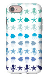 Blue Under the Sea iPhone 7 Case by  Avalisa