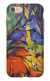 Deer in Forest iPhone 7 Case by Franz Marc