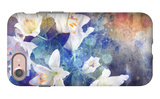 Artistic Abstract Watercolor Painting with Lily Flowers on Paper Texture iPhone 7 Case by  run4it