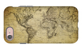 Vintage Map of the World, 1814 iPhone 7 Case by  javarman