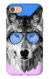 Woolf in Blue Glasses iPhone 7 Case by Lisa Kroll