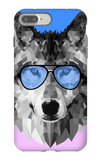 Woolf in Blue Glasses iPhone 7 Plus Case by Lisa Kroll